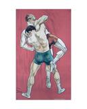 Wrestling Giclee Print by Candido Aragonez de Faria