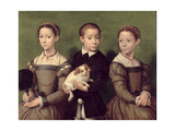 Two Sisters and a Brother of the Artist Giclee Print by Sofonisba Anguissola