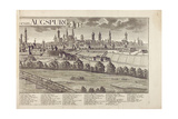 Panoramic View of Augsburg Giclee Print by Johann Thomas Kraus