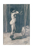 Woman with a Trapeze Giclee Print by Felicien Rops