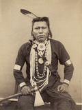 A Native American Indian, C.1880-90 Photographic Print by Roland Napoleon Bonaparte