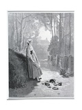 Illustration for the Milkmaid and the Milk Can, from 'Fables' by Jean De La Fontaine (1621-95) Giclee Print by Gustave Doré