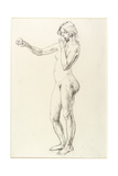 Standing Nude Girl Giclee Print by Henry Tonks