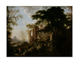 Landscape with a Water-Mill Giclee Print by Salvator Rosa
