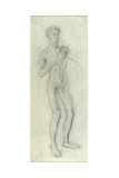 Standing Nude Boy Giclee Print by Henry Tonks