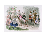 Children in the Park, from 'La Saison, Journal Illustre Des Dames', May 1869 Giclee Print by H. Colin