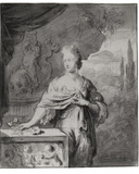 Preparatory Drawing for Portrait of Dina Bye, 1705 Photographic Print by Willem Van Mieris