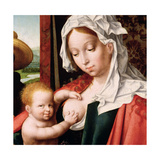 The Holy Family, C.1520 (Detail) Giclée-Druck von Joos Van Cleve