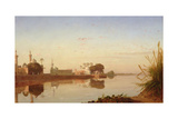 View of the Nile in Lower Egypt, C.1840 Giclee Print by Prosper Georges Antoine Marilhat