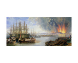 The Bombardment of Sebastopol, 1858 Giclee Print by John Wilson Carmichael
