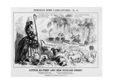 Little Bo-Peep and Her Foolish Sheep, Published by T W Strong, New York, 1861 Giclee Print