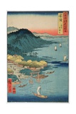 Hitachi Province: Kashima Great Shrine, from the Series 'Illustrations of Famous Places in the… Giclee Print by Ando Hiroshige