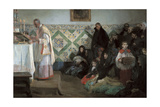 Hearing Mass, Rocafort Giclee Print by Jose Benlliure Y Gil