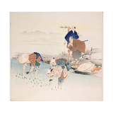 Rice Planting, C.1890s-1900s Giclee Print by Ogata Gekko