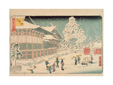 Shiba Jimmei Shrine, from the Series 'Famous Places in Edo', 1858 Giclee Print by  Hiroshige II