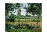 Morning, Sunlight Effect, Eragny, 1899 Giclee Print by Camille Pissarro