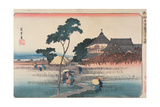 Ando Hiroshige - The Spiral Hall of the Temple of the Five Hundred Arhats, from the Series 'Famous Places in Edo',… - Giclee Baskı