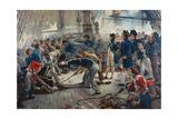 The Hero of Trafalgar Giclée-tryk af William Heysham Overend