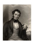 Richard Cobden, Engraved by G. Adcock, from 'The National Portrait Gallery, Volume III',… Giclee Print by Charles Allen Duval