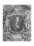 Portrait of Christina of Sweden, Delegate of the Treaty of Muenster,24 October 1648 (Peace of… Giclee Print by Anselmus Van Hulle