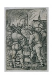 Guardsmen by the Powder Kegs, 1515-50 Giclee Print by Hans Sebald Beham