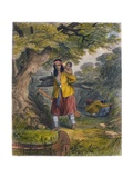 Indian Women Procuring Fuel  1853