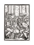 Death Comes for the Drunkard, Engraved by Georg Scharffenberg, from 'Der Todten Tanz', Published… Giclee Print by Hans Holbein the Younger