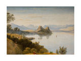 Albanian Mountains with Corfu in Distance Giclee Print by William James Linton