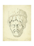 Head of a Man, 1874 Giclee Print by Claude Conder