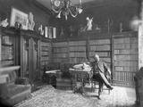 Alexandre Gustave Eiffel in His Library Photographic Print by  Dornac