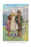 Put Your Foot Down Firmly Once,' Suggested Heidi, Illustration from 'Heidi' Giclee Print by Jessie Willcox-Smith