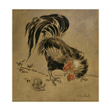 Spanish Cock and Snail Giclée-tryk af Joseph Crawhall