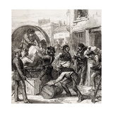 Insurgents from Cartagena Murcia Province Foraging at Torrevieja During Third Carlist War, from… Giclee Print