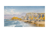 Off the Coast of Guernsey Giclee Print by John Brett