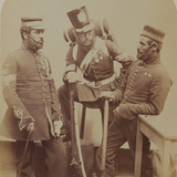Colour-Sergeants J. Stanton, Kester Knight and W. Bruce, Royal Sappers and Miners, 1856 Photographic Print by  Joseph Cundall and Robert Howlett