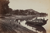 Boats at Ava, Burma Photographic Print by Lord Henry Rawlinson