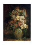 Vase of Flowers, C.1870-75 Giclee Print by Adolphe Joseph Thomas Monticelli