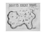 Scott's Great Snake, Published in Cincinnati, 1861 Giclee Print by J. B. Elliott