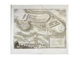 Battle of Wittstock (Dosse) on 24th September 1636, from Theatrum Europaeum, Vol. III, Printed by… Giclee Print by Matthaus, The Elder Merian