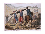 A Ravine of Sebastopol after the Explosion in the Mamelon Vert: a Zouave Collects Wood from the… Giclee Print by George Cadogan