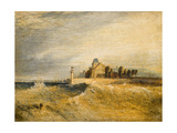 Coast Scene with Pier Giclee Print by Henry Dawson