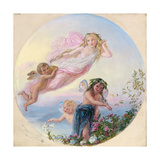 A Sylph and Her Fairy Attendants Besprinkling the Early Morning Dew Giclee Print by Joseph Bouvier