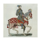 Henri II as Captain of the Houshold Cavalry Giclee Print by after Chevignard