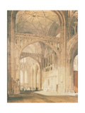 Interior of Salisbury Cathedral, C.1805 Giclee Print by J. M. W. Turner