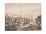 Landscape with Tivoli and Aniene, 1773 Giclee Print by Jacob-Philippe Hackert