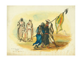 The Mad Negro Banner Bearer', Kaumur, 1873 Giclee Print by Claude Conder