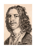William Dobson, Illustration from '75 Portraits of Celebrated Painters from Authentic Originals',… Giclee Print by James Girtin