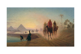 The Road to the Pyramids Giclee Print by Charles Theodore Frere