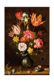 Still Life of Flowers with Insects Giclee Print by Balthasar van der Ast