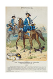 Dragoons in the Regiment Von Pomeiske in 1762, C.1890 Giclee Print by Richard Knoetel